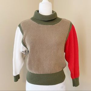 Callahan Knitwear Color Block Sweater - M